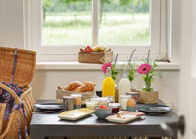 Uitgebreid ontbijt in de ochtend